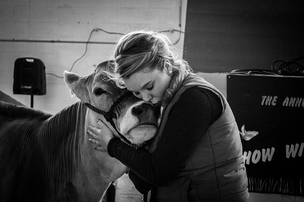 Sara Hara shows the love for Brown Swiss!